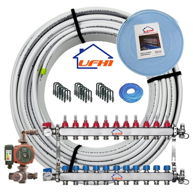 Premium Underfloor Heating Kit - 11 Port, 1100m Kit (up to 220m²)