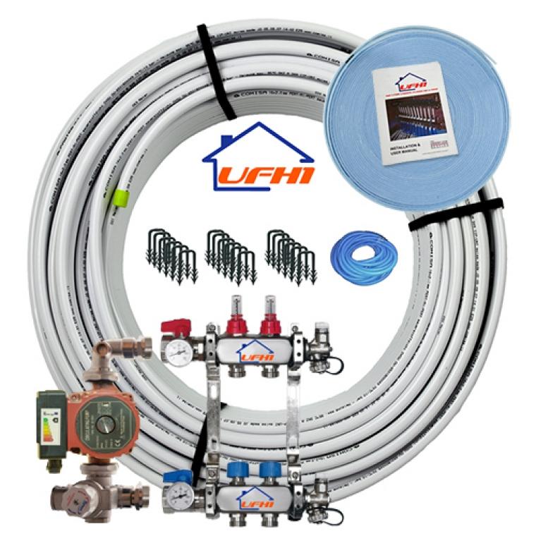 Premium Underfloor Heating Kit - 2 Port, 200m Kit (up to 40m²)