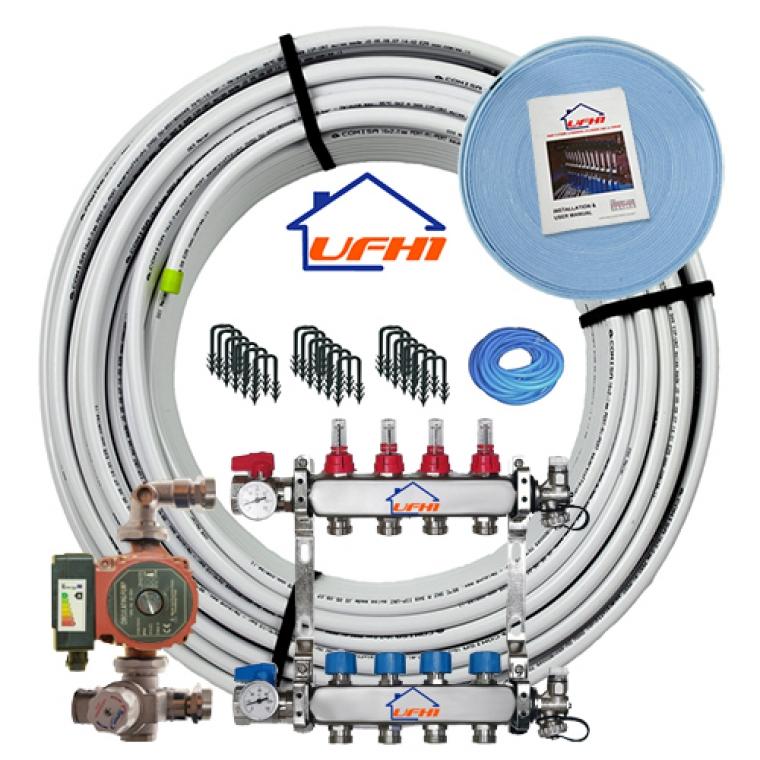 Premium Underfloor Heating Kit - 4 Port, 400m Kit (up to 80m²)