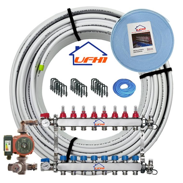Premium Underfloor Heating Kit - 8 Port, 800m Kit (up to 160m²)