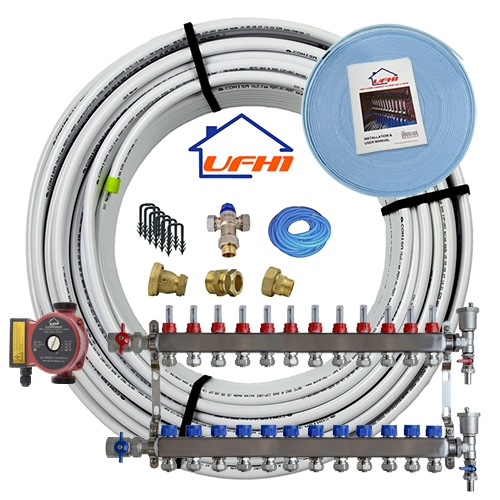 Standard Underfloor Heating Kit - 12 Port, 1200m Kit (up to 240m²)