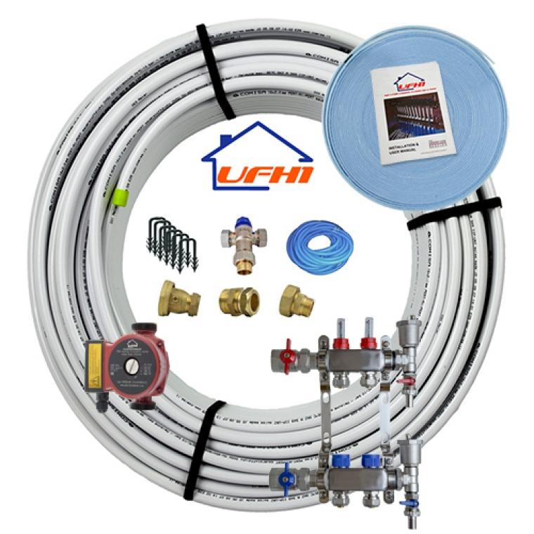 Standard Underfloor Heating Kit - 2 Port, 200m Kit (up to 40m²)