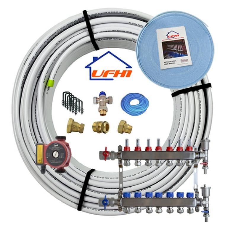 Standard Underfloor Heating Kit - 7 Port, 700m Kit (up to 140m²)