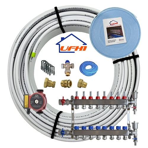 Standard Underfloor Heating Kit - 8 Port, 800m Kit (up to 160m²)