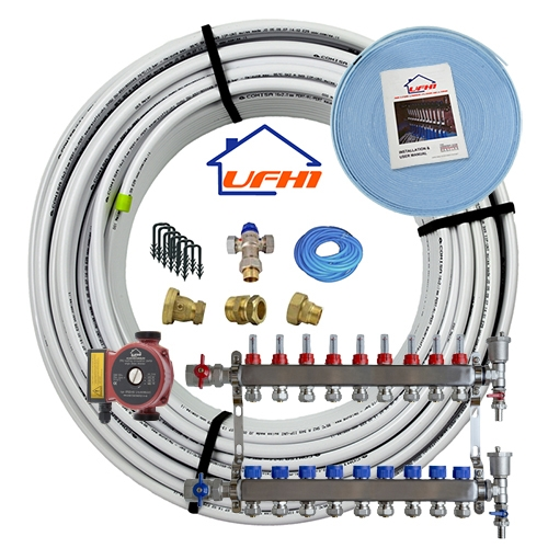 Standard Underfloor Heating Kit - 9 Port, 900m Kit (up to 180m²)